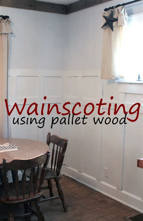 Pallet Wainscoting by 5 Larger Than Pallet Projects For The Home Scrapality