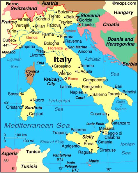 italy map with major cities swisseduc literary maps europe