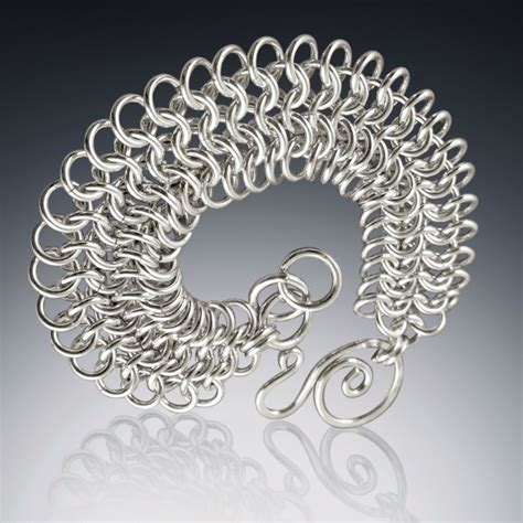 Handmade Silver Chains - handmade s sterling silver chain mail bracelets