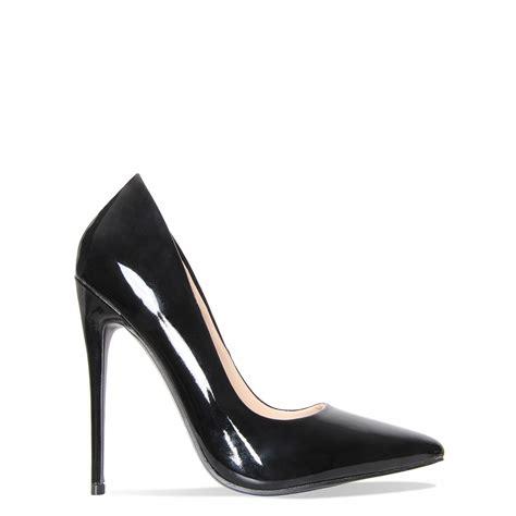 Heels Stiletos black patent stiletto court shoes simmi shoes