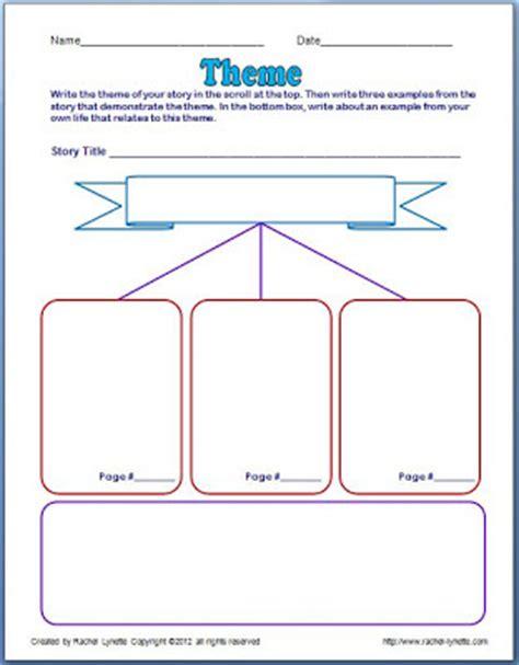 theme in literature graphic organizer classroom freebies theme poster and graphic organizer