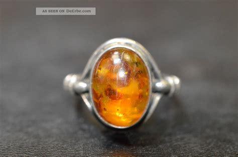 alter antik ring mit bernstein 835 silber ringgr 246 223 e 53
