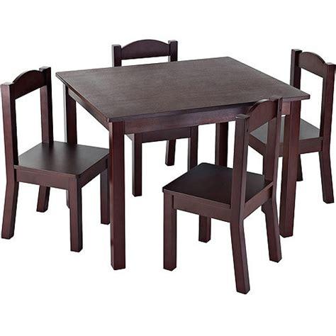tot tutors wood table and chair set colors tot tutors wood table and 4 chairs set
