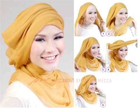 tutorial hijab pashmina menjadi turban 17 best images about hijab on pinterest how to wear