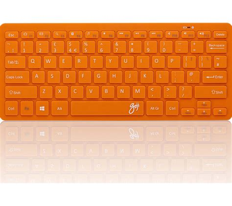 Keyboard Komputer Wireless by Goji Gkbmmor16 Wireless Keyboard Orange Deals Pc World