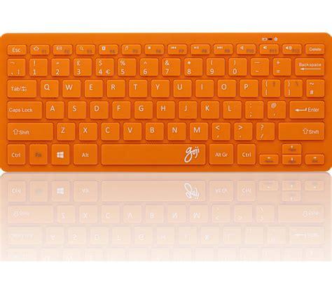 Keyboard Komputer Wireless goji gkbmmor16 wireless keyboard orange deals pc world
