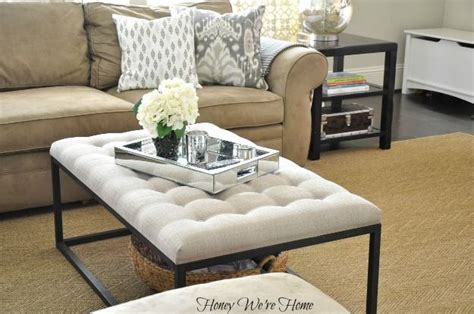 overstock ottoman coffee table honey we re home overstock renate coffee table ottoman