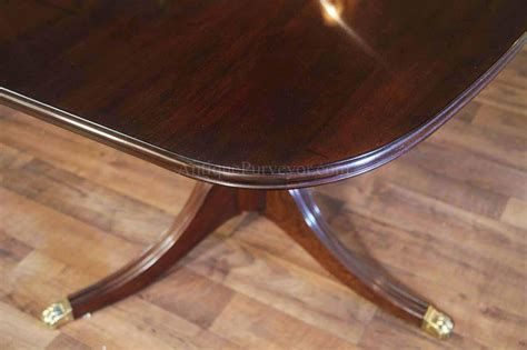 new solid mahogany dining table with formal polished