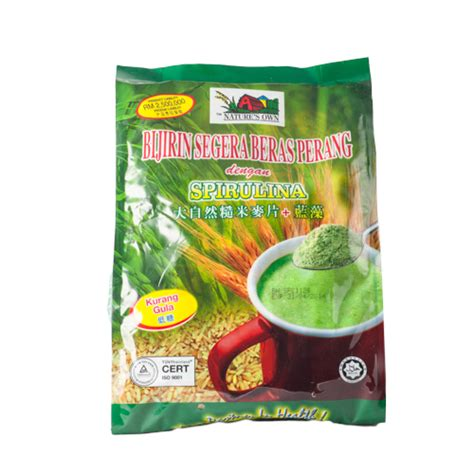 Nature S Own Instant Brown Rice Cereal Spirulina nature s own dhn kk sdn bhd