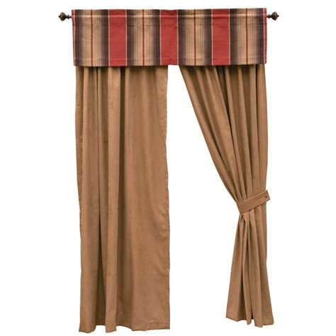 suede drapes mocha faux suede drapes and appalachian valance