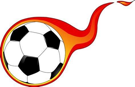 clipart calcio onlinelabels clip flaming soccer