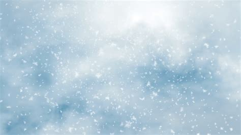 cold background snowfall of a winter cold weather motion background