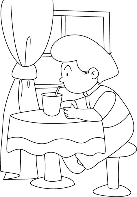 coloring book using water water with a straw coloring pages free