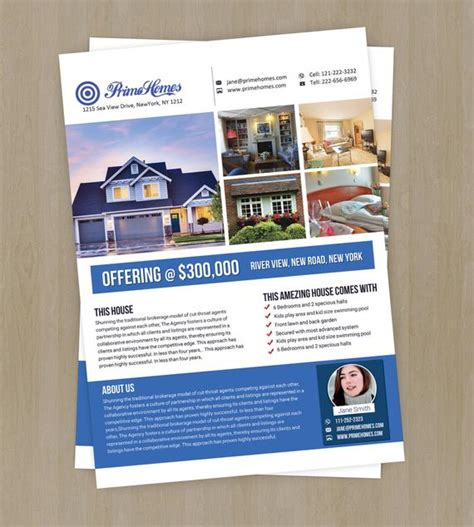 Real Estate Advertising Flyer Template Editable In Ms Word Powerpoint Real Estate Flyer Templates