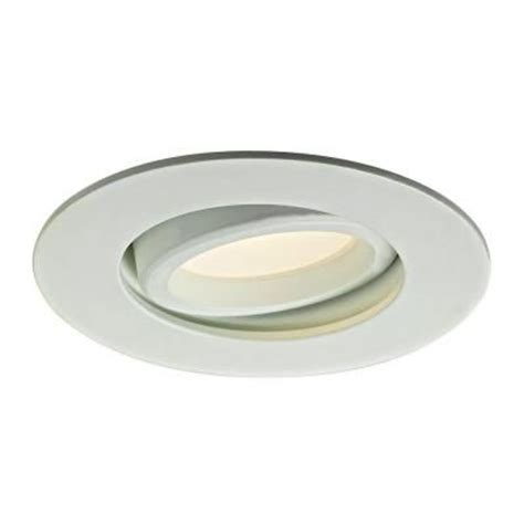 pin lights for kitchen illume lighting 3 37 in white recessed led directional
