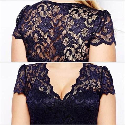 New Lace High Waisted Munafie Slim Celana Renda Kawat 3 cut cocktail chic lace bodycon formal dress evening plus size club ebay