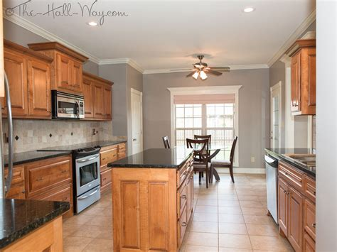 kitchen colors with maple cabinets summer tour of homes the hall way