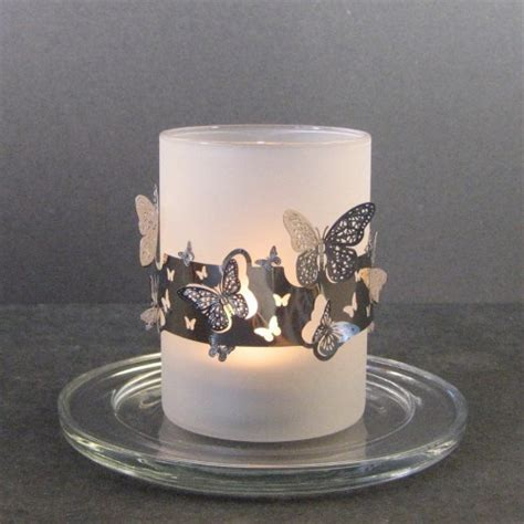 Butterfly Candle Holder stylys glass tealight candle holder butterfly