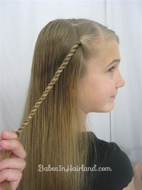 how to do the twist braid step by step rope braid hairstyle babes in hairland