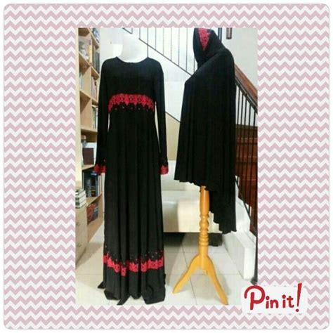 Jilbab Syari 3 Renda gamis syar i jilbab polos hitam renda merah spandek jersey impor korea butik 355rb idr gamis