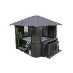 home depot gazebo canadian spa company fraser 10 ft synthetic charcoal