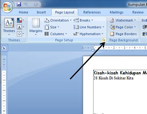 ukuran layout novel fardian imam m membuat layout buku dengan ms word