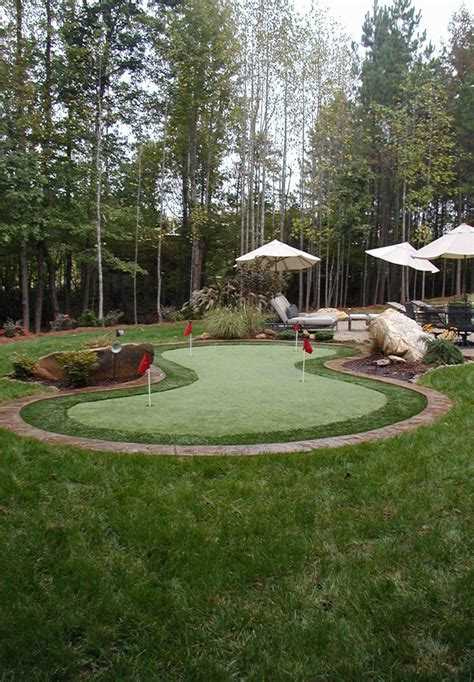 backyard putting green lighting synthetic putting greens outdoor contracting
