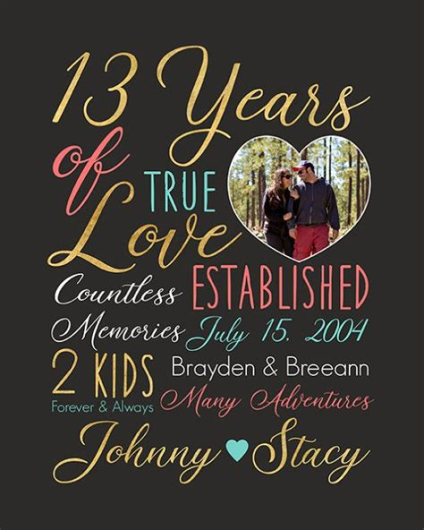 12th Wedding Anniversary Gift For by Best 25 13th Anniversary Gift Ideas On
