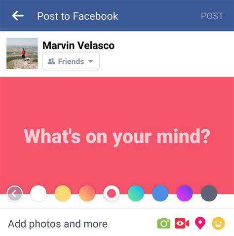 add color facebook lets you add color to status updates now