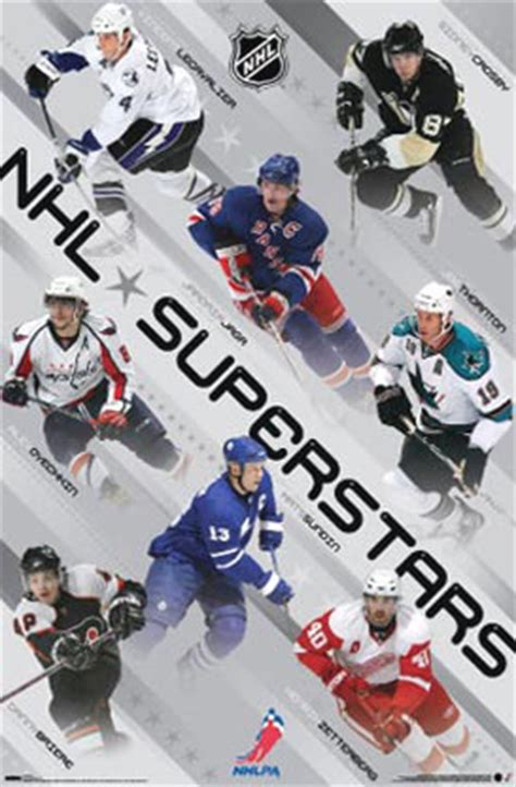 national hockey league superstars player poster prints
