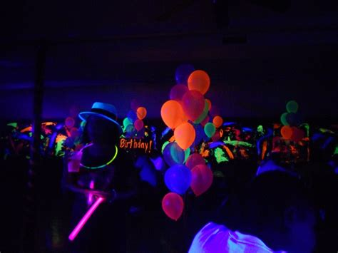 black light party supplies disco party decorations neon glow balloons party