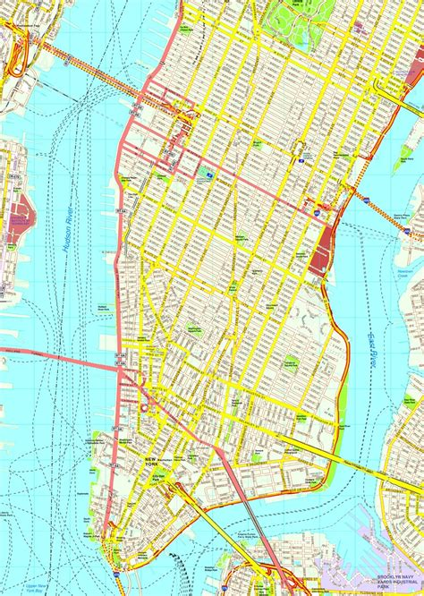 america new york map new york manhattan map eps illustrator vector city maps