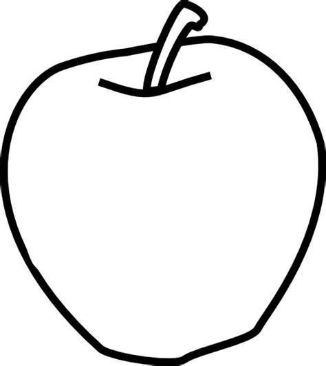apple clipart black and white apple black and white clip at clker vector clip