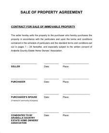 contract for sale of property template 6 property contract templates free sle exle