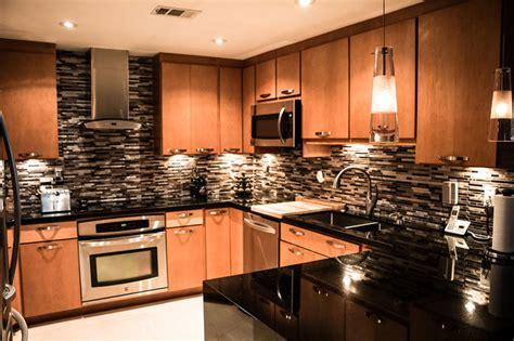 Maple Cabinets With Black Granite Countertops by Maple Kitchen Cabinets With Black Absolute Granite Countertops