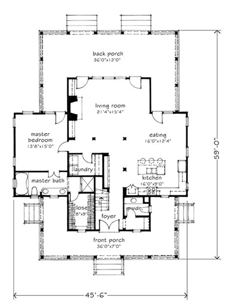 gable house plans four gables southern living house plans