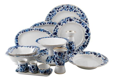 ekaterina s imperial porcelain tea blue bells dinner set 33 pcs