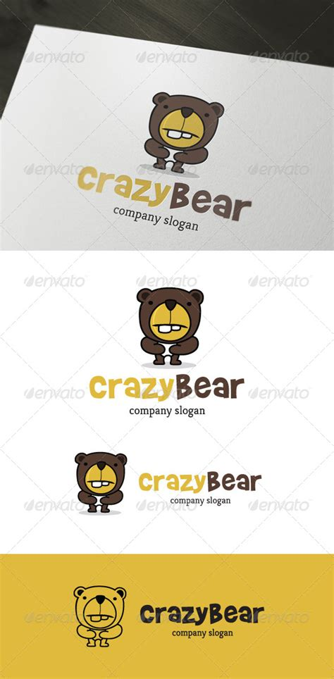 Logo Template Graphicriver Crazy Bear Logo 4279122 187 Dondrup Com Brady Bunch Template Photoshop