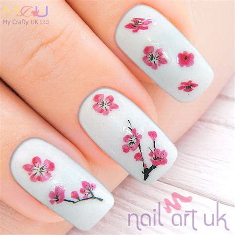 Nail Stickers by Cherry Blossom Adhesive Nail Stickers Nail Uk
