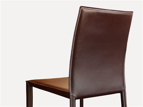 chaises en cuir chaise en cuir costa marron