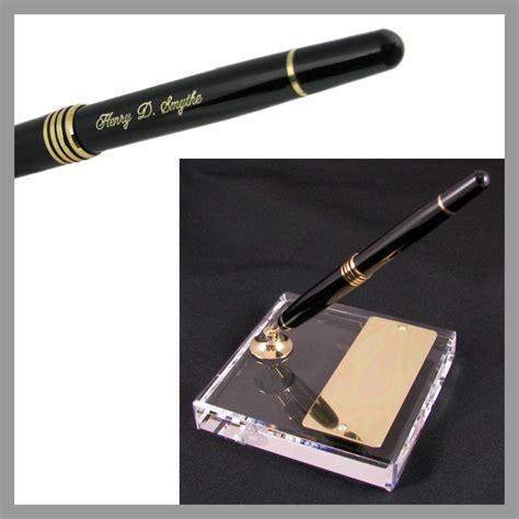 desk pen sets engraved crystal single pen engraved desk pen set the desk works