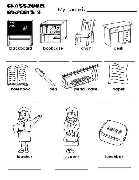 coloring pages for kids classroom objects english teacher o prof de fran 231 ais classroom objects