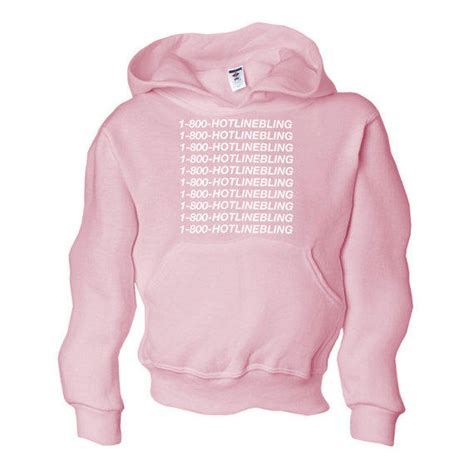 Jakethoodiesweater Hotlinebling Pink hooded sweatshirt 1 800 hotline bling from yourtypetees on etsy
