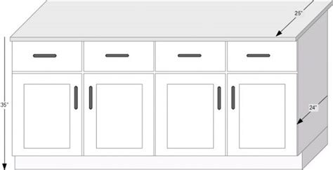 average depth of kitchen cabinets look for the right numbers for standard kitchen measurment