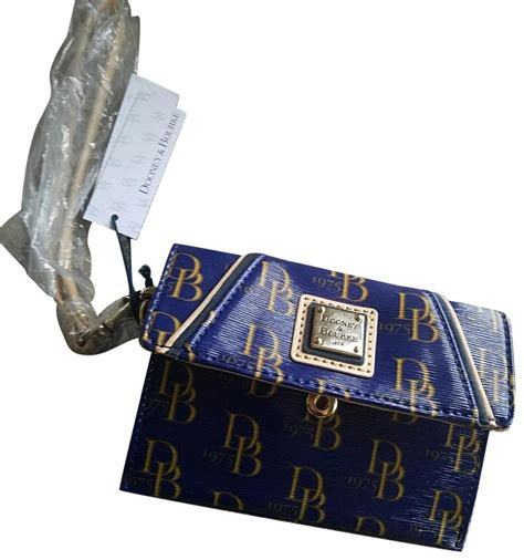 Lettering Wallet dooney bourke blue and gold royal lettering wallet tradesy