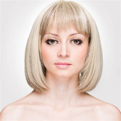 above shoulder length hairstyles with bangs above shoulder length graduated bob wispy bangs medium