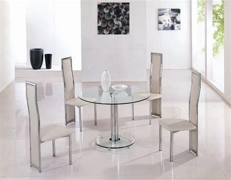 Mini Round Vo1 Ice Glass Dining Table Glass Dining Table Circular Glass Dining Table And Chairs