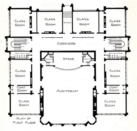 school building floor plan first floor plan knowlton school digital library