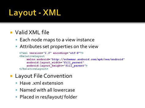 xml layout definition getting dirty with android