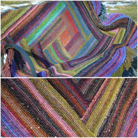 colorful stitches log cabin throw pattern